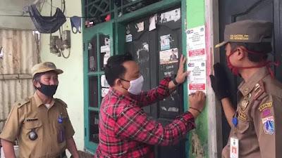 Polisi Beri Tanda Rumah Warga yang Baru Tiba di Jakarta Usai Mudik Lebaran 2021