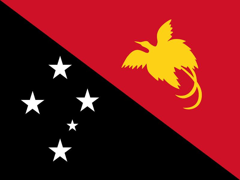 Logo Gambar Bendera Negara Papua Nugini PNG JPG ukuran 800 px