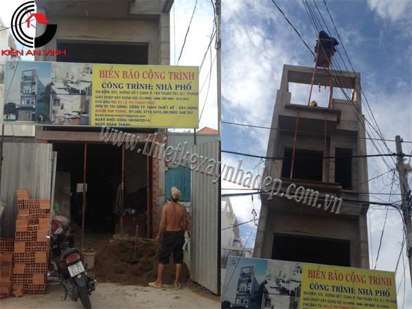 Thiết kế thi công xây nhà ống 2 tầng chị Trúc tại quận 7 Thi-cong-nha-pho-8