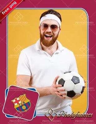 Marco para hacer Fotomontajes del F. C. Barcelona