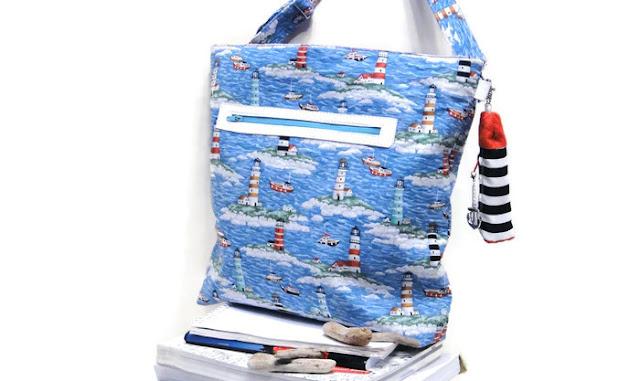 Пришло время купить сумку на море - ручная работа, натуральный хлопок. Ключница - маяк в комплекте. Доставка почтой или курьером