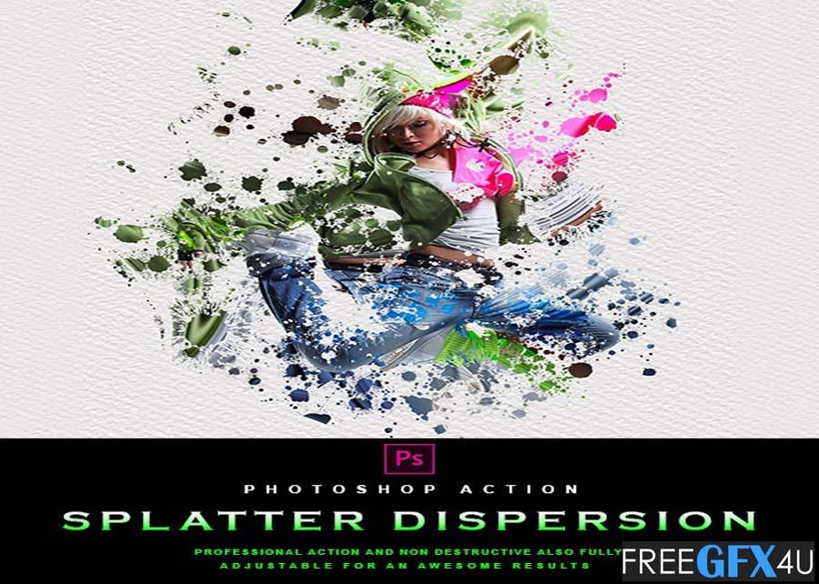 Splatter Dispersion - Photoshop Action