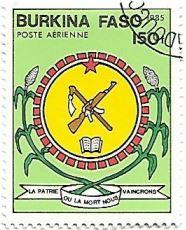 Selo Brasão de Burkina Faso