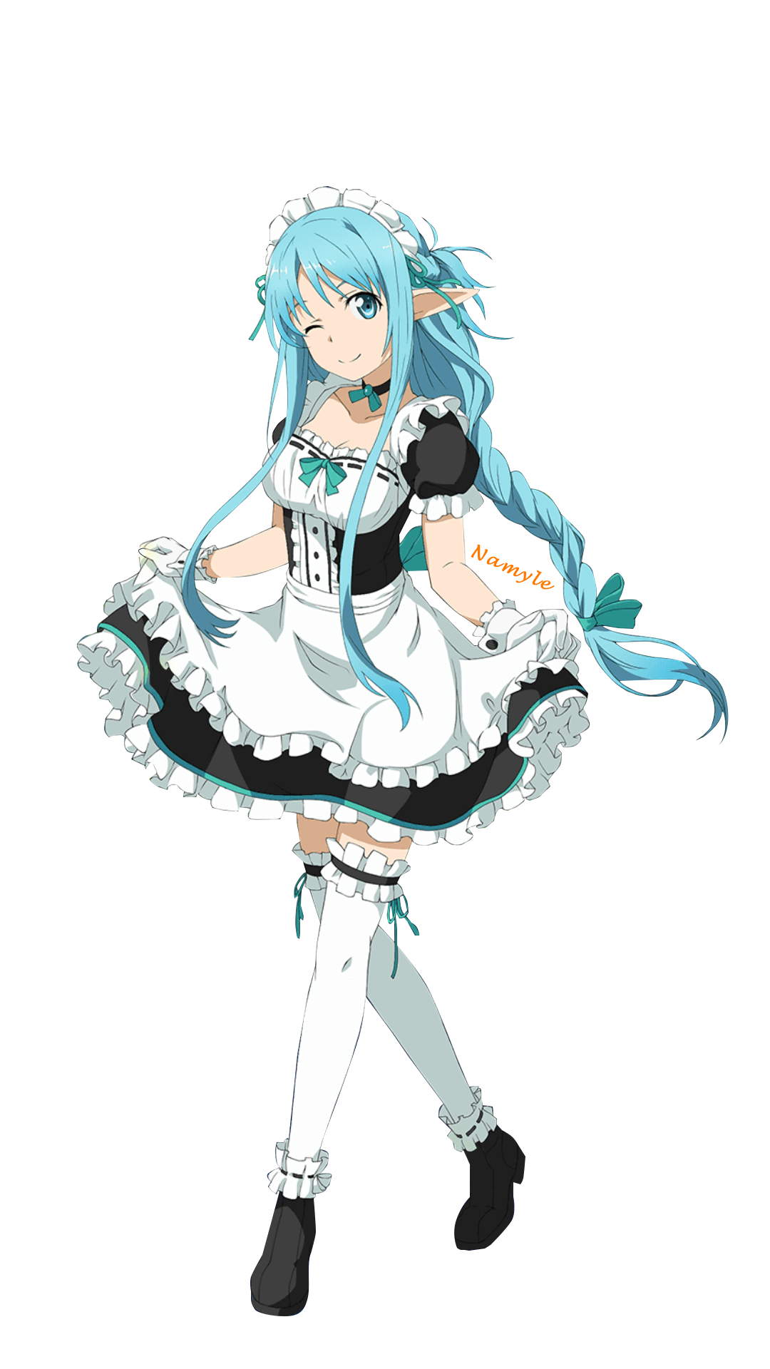 render Asuna Yuuki the maid