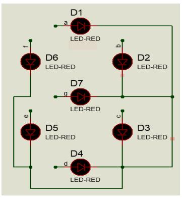 Skematik seven segment common anoda