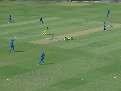 Aaron Finch was run out