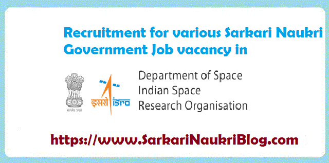 Government Jobs in ISRO