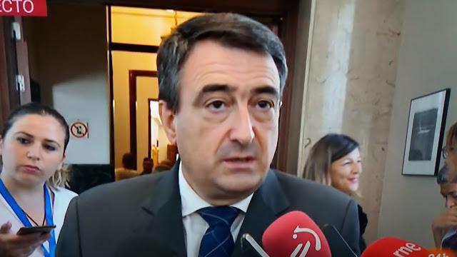 """Aitor Esteban descarta el """"no"""" a la investidura de Sánchez y califica de """"chirenada"""" la propuesta de Vox sobre los sueldos de los diputados"""