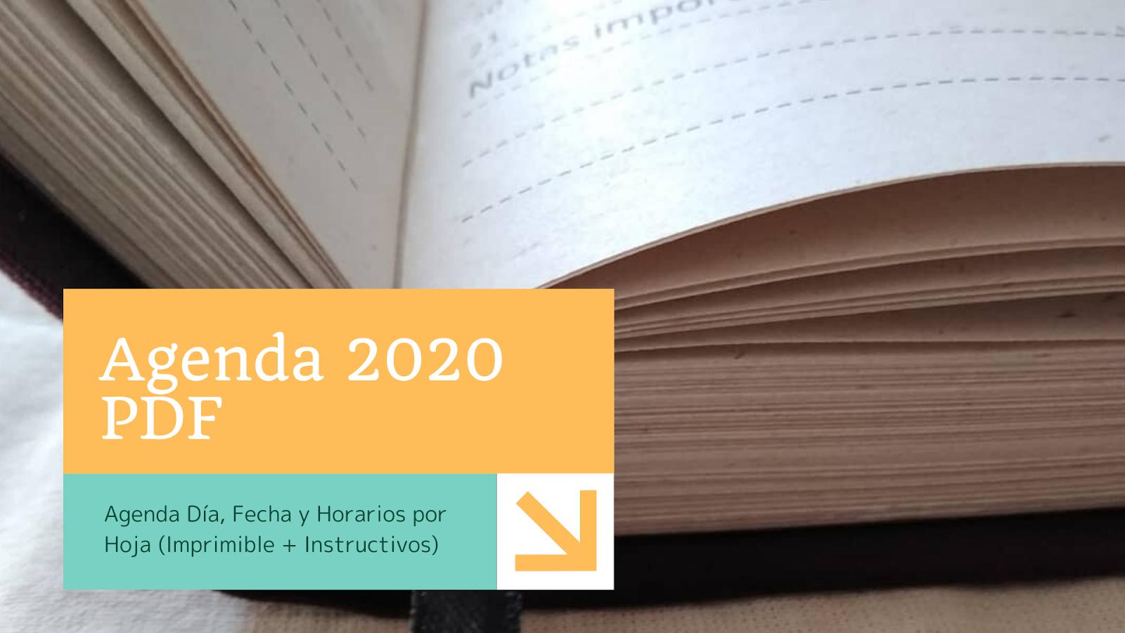 pdf de agenda 2020
