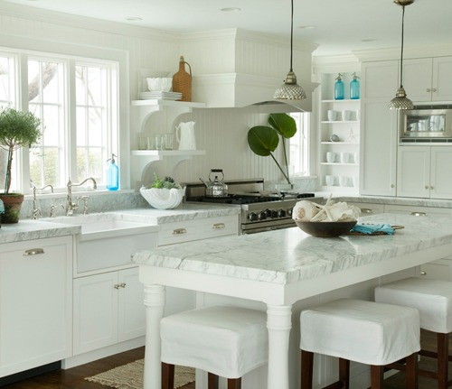 Elegant Coastal Country Kitchen