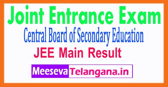 Joint Entrance Examination JEE Main Result 2018 Marks Rank
