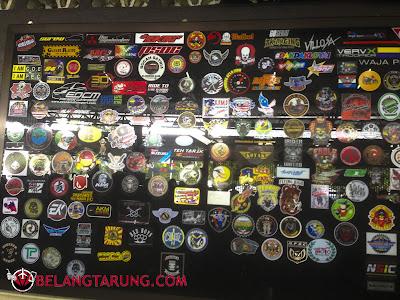 Sticker Kelab Motor Di Nasi Bamboo Sg Klah