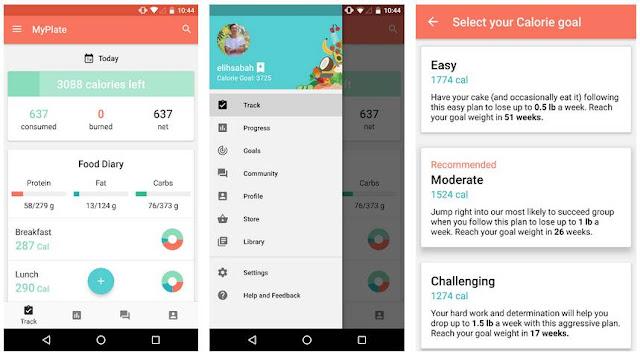 Aplikasi MyPlate Calorie Tracker