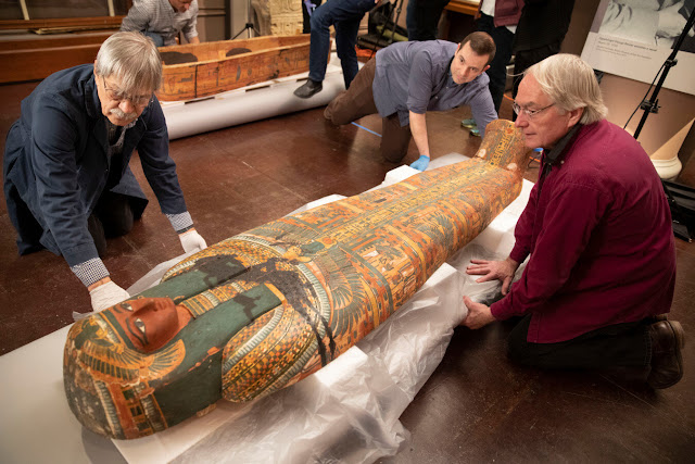 Painting of deity found inside 3,000-year-old Egyptian coffin