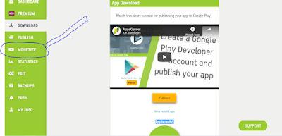 كيفية انشاء تطبيق او لعبة والربح منها