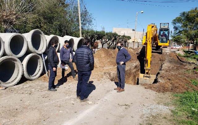 San Miguel: Avanza una obra hidráulica. 001