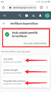 Verifikasi Domain Search Console 2020