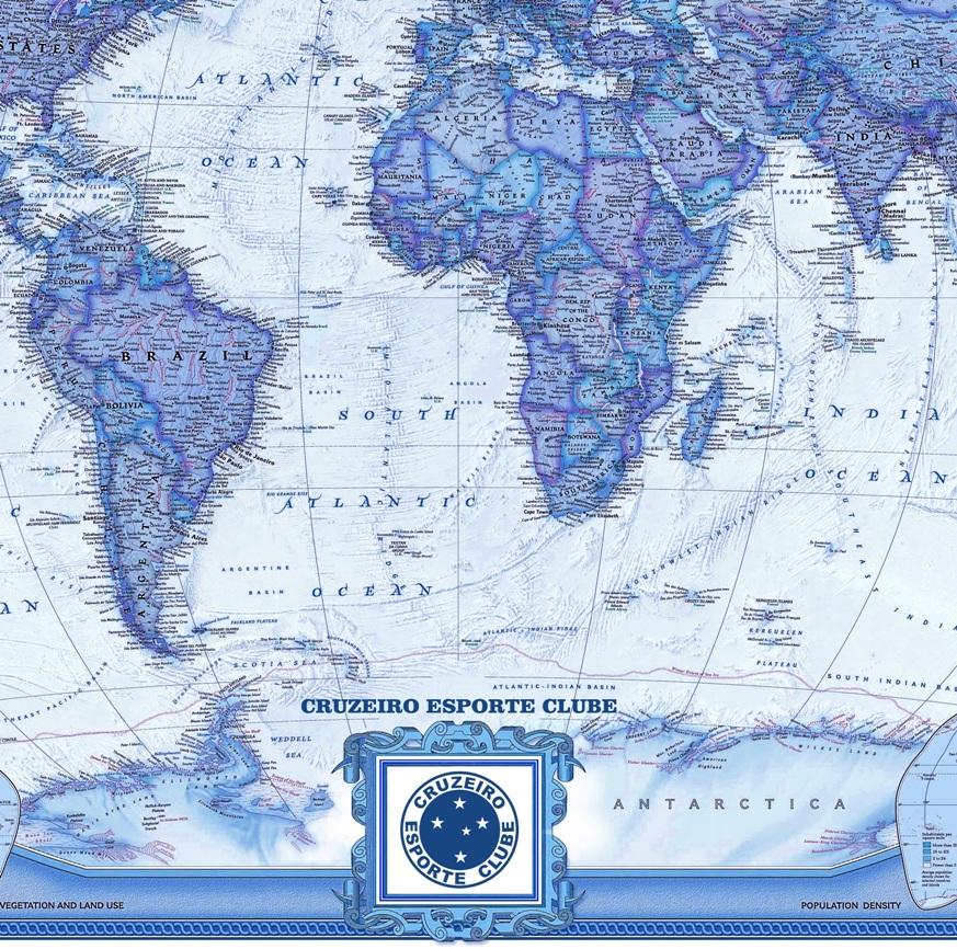 Mapa Mundi Do Cruzeiro 90x142cm Poltico Econmico Em Ingls  R