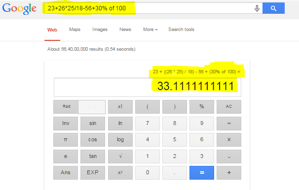 Solve Complex Equation on Google