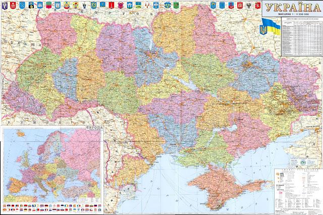 Mapas Geográficos da Ucrânia