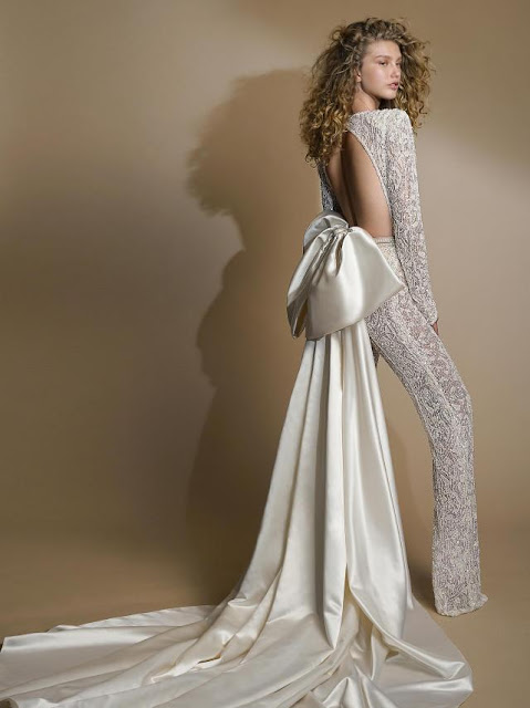 K'Mich Weddings - wedding planning -jumpsuit with bow-g-109-galia-lahav-fall-2019