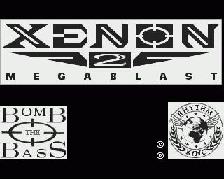 Captura de la pantalla inicial cuando salía la música de Bomb the Bass, Xenon 2