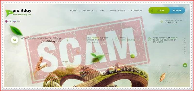 Мошеннический сайт profitday.biz – Отзывы, развод, платит или лохотрон? Мошенники