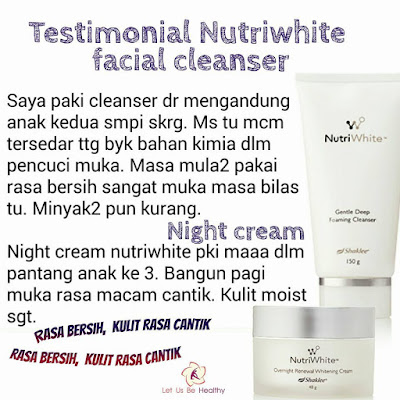Testimoni Nutriwhite Gentle Deep Foaming Cleanser