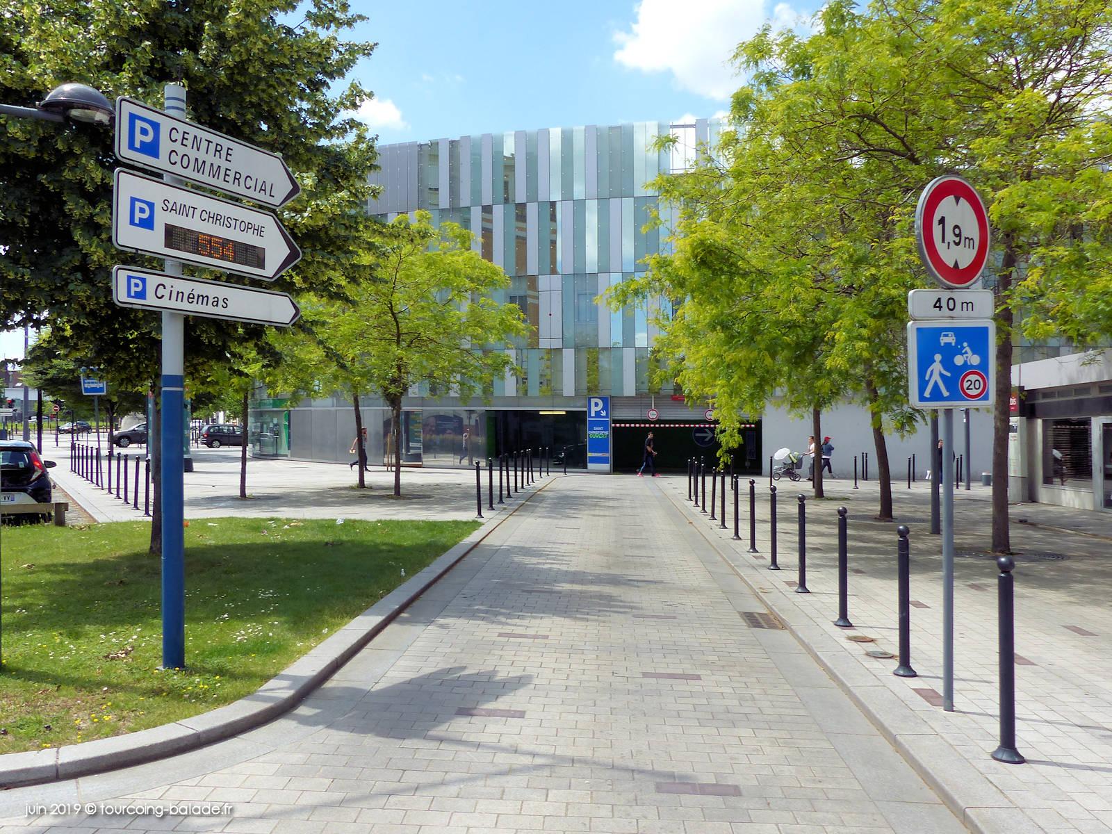 Accès véhicules Parking Saint-Christophe, Tourcoing 2019