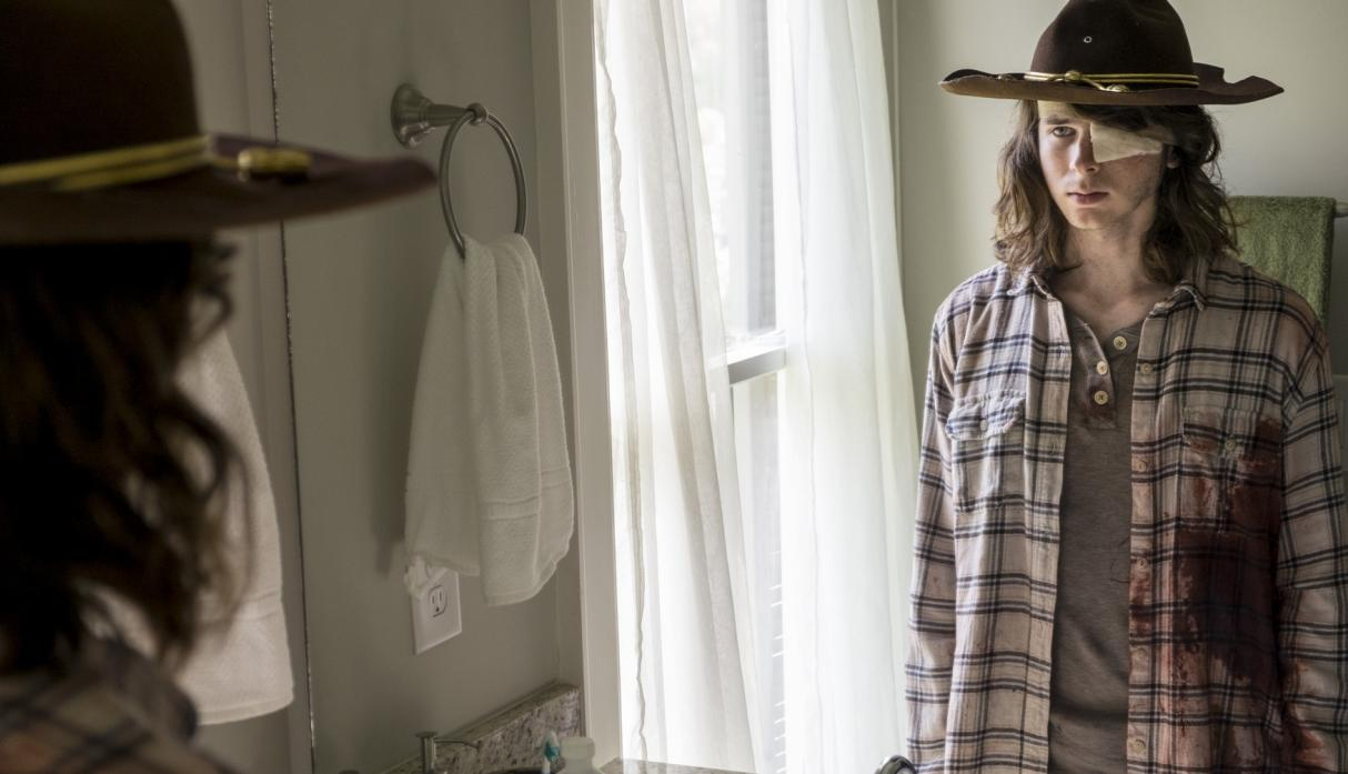 Carl, en el episodio 8x09 Honor de The Walking Dead