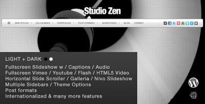 Download Studio Zen v2.1 Fullscreen Portfolio WordPress Theme