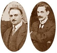 Ls ajedrecistas Fernando De Villegas y el Dr. Esteve Puig i Puig