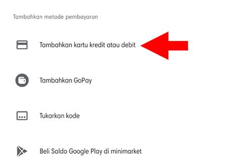 Menambahkan Kartu Kredit di Google Play