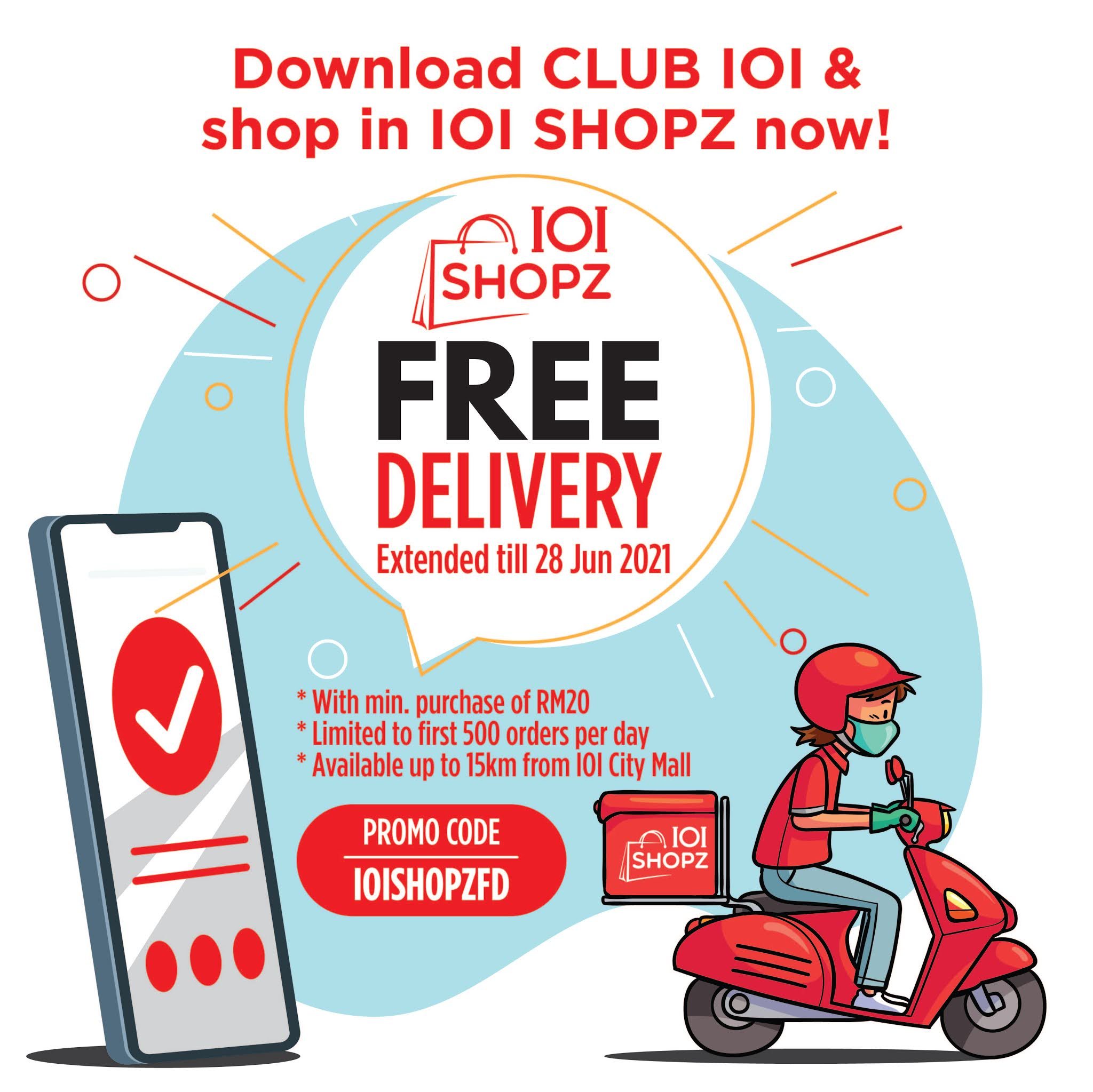 ioi shopz: delicious deliveries from ioi city mall, with exclusive benefits for club ioi members