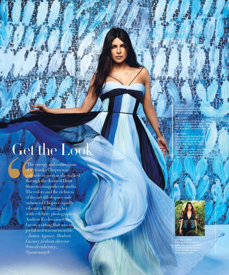 Priyanka Chopra wears Elizabeth Kennedy gown