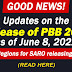 Updates from PBB Sec. on the Release of PBB 2019 as of June 8, 2021
