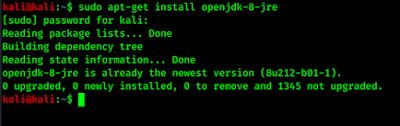 installing JRE in Kali Linux
