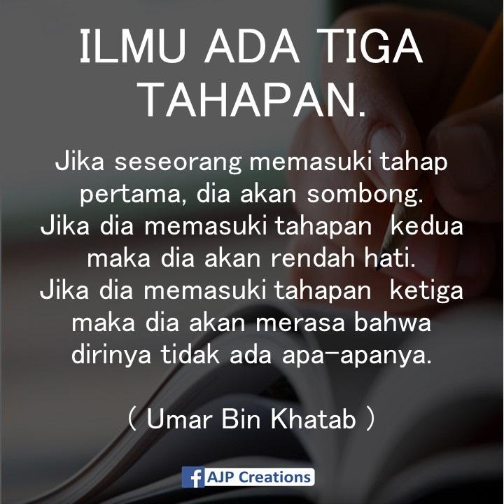 Kata Bijak Umar Bin Khattab Tentang Ilmu