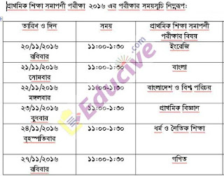 PSC examination Routine 2016