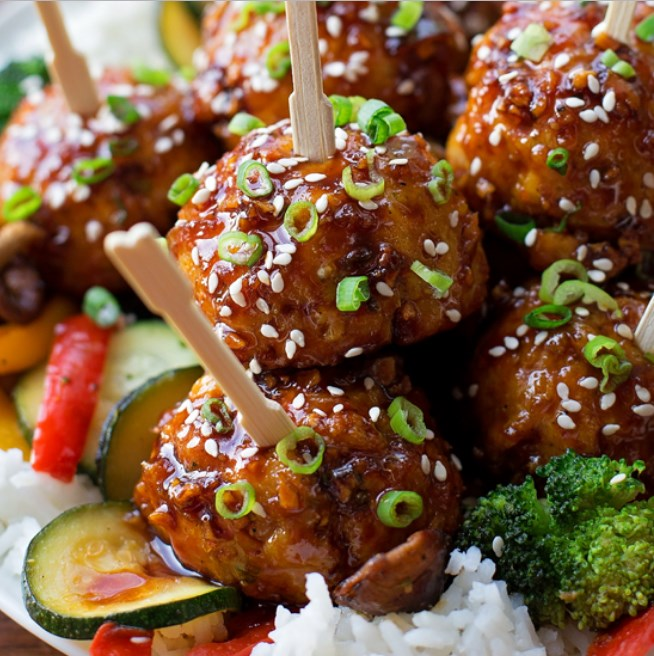 Sticky Thai Meatballs #appetizers #dinner