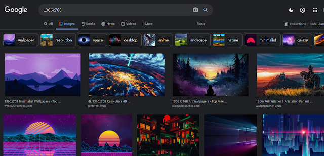 1366x768 images on Google