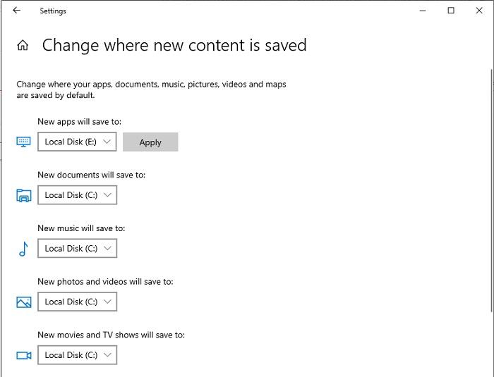 كيفية تغيير مكان حفظ وتنزيل الملفات الافتراضي في ويندوز 10