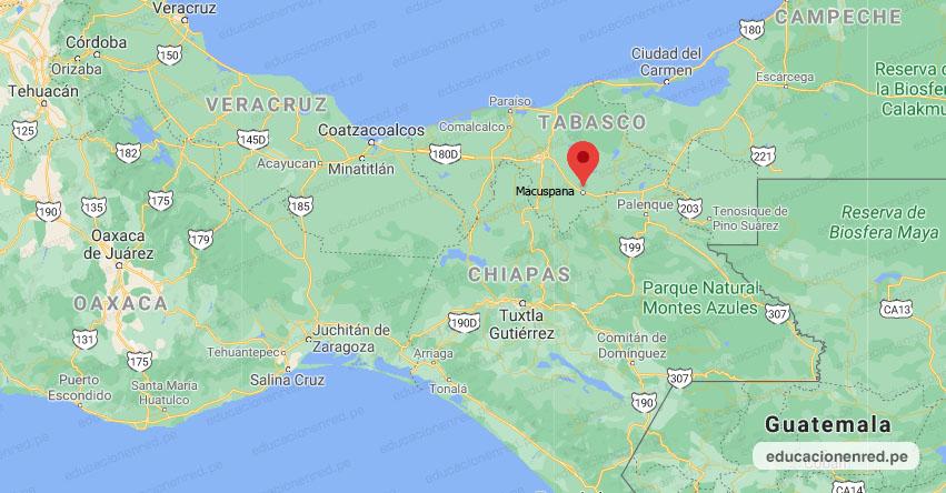 Temblor en México de Magnitud 4.2 (Hoy Viernes 04 Diciembre 2020) Sismo - Epicentro - Macuspana - Tabasco - TAB. - SSN - www.ssn.unam.mx