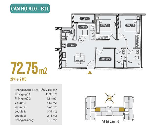 Căn hộ 02 ngủ Anland Premium