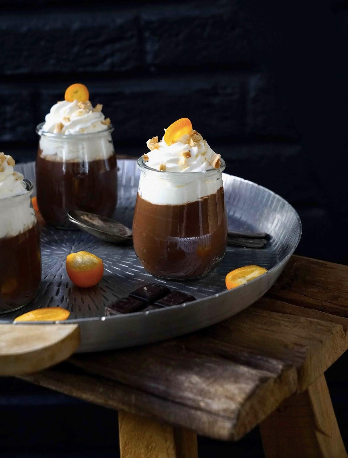 chocolat noir ,dessert pour la famille , viennois chantilly