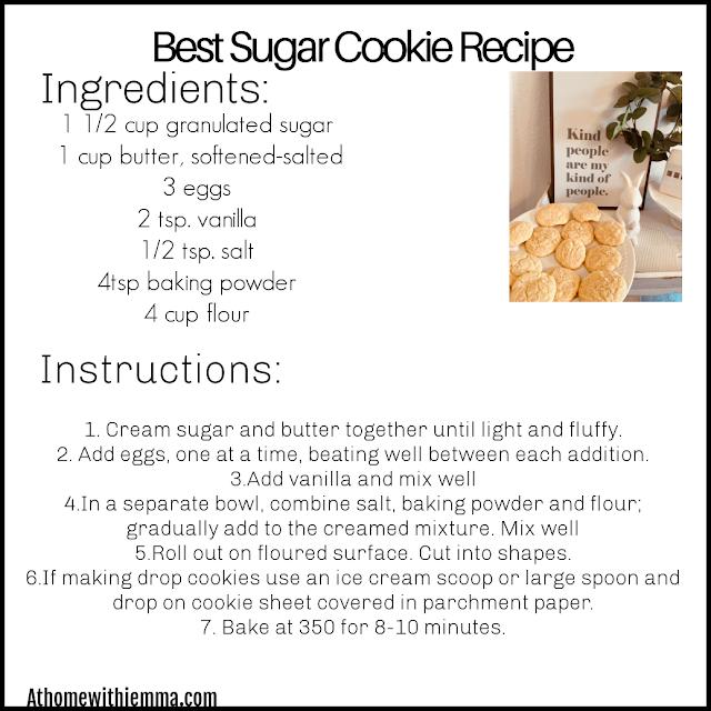 Best Sugar Cookie Recipe Printable