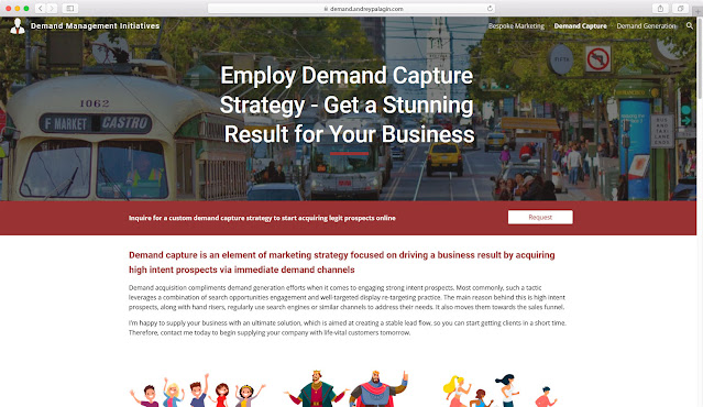 Landing page for Demand Management Initiatives developed by Andrey Palagin