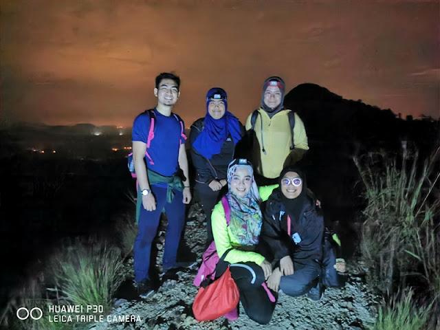 Puncak pertama Bukit Berekeh di Sungai Siput Perak