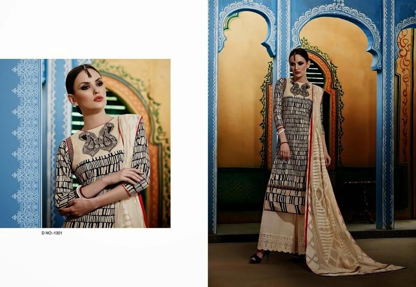 128b2a7a7 Jay Vijay Designer Cotton Suits 2015