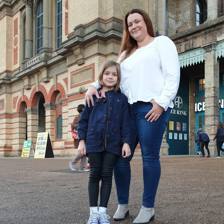mum and daughter at alexandra palace